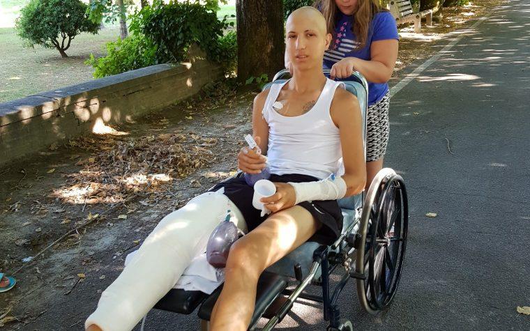 La ripresa: lastra e prima uscita sulla sedia a rotelle